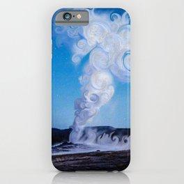 Old Faithful & Full Moon iPhone Case