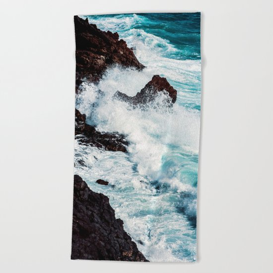 CONFRONTING THE STORM Beach Towel