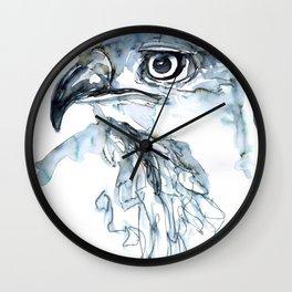 Hawk, Watercolor Wall Clock
