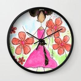 Tia, Hey Girl! Wall Clock