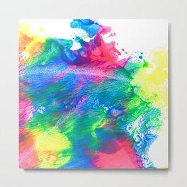Rainbow Paint Splatter V3 Metal Print