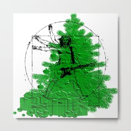 da vinci's Tree Metal Print
