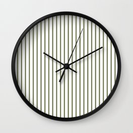 Wheelbarrow Grey Pinstripe on White Wall Clock