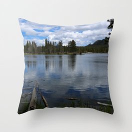 A Visit At Sprague Lake Throw Pillow