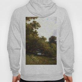 On The Waywayanda Orange County New York 1877 By David Johnson   Reproduction   Romanticism Landscap Hoody