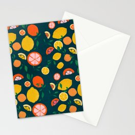 Citrus Fun Pattern Stationery Cards