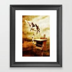 Feeding the Dragon Framed Art Print