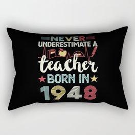 Teacher born in 1948 80th Birthday Gift Teaching Rectangular Pillow