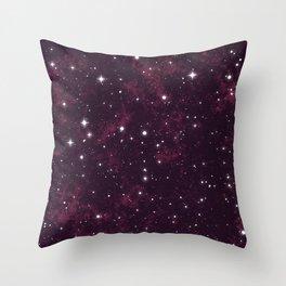 Burgundy Space Throw Pillow