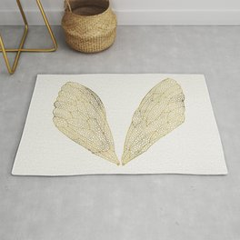 Cicada Wings in Gold Rug