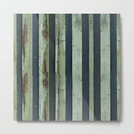 Stripped Green Lines Metal Print