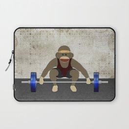 Sock Monkey Bodybuilder Laptop Sleeve
