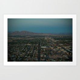 Vegas Sprawl Art Print