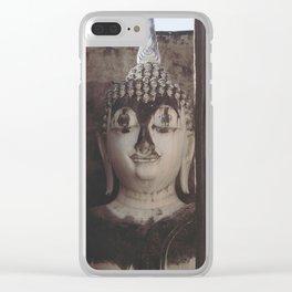 Wat Si Chum Buddha at Sukhothai Historical Park Clear iPhone Case