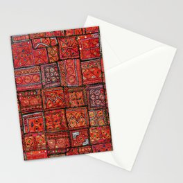 V5 Red Traditional Moroccan Design - A3 Stationery Cards