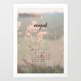 August 2017 Calendar Art Print