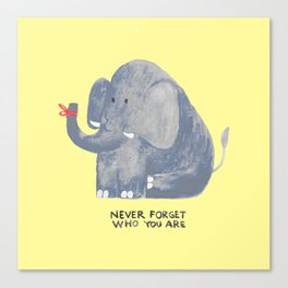 Elephant never forgets Canvas Print