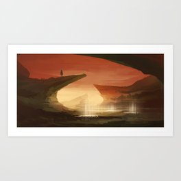 On the lookout Art Print