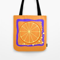 coasters Tote Bags featuring ORANGE by Tanya Pligina