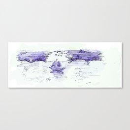 moon yacht Canvas Print
