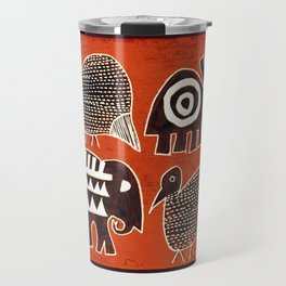 African Animal Folk Art Travel Mug