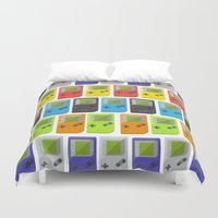 gameboy Duvet Covers featuring GAMEBOY COLOR 2 by soycocon