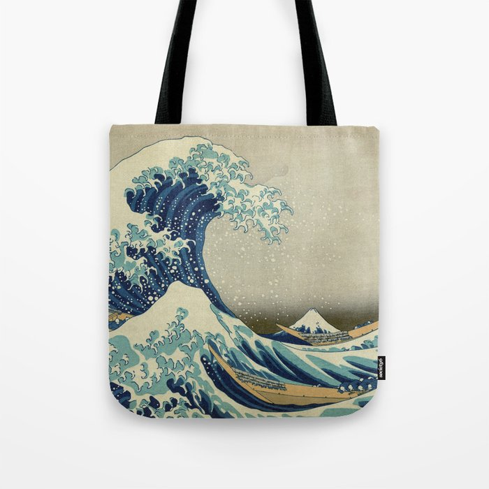 The Classic Japanese Great Wave off Kanagawa Print by Hokusai Tote Bag