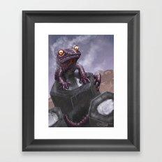 Fire Salamander Framed Art Print