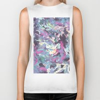 celestial Biker Tanks featuring Celestial by Wendy Ding: Illustration