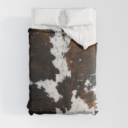 Brown Cowhide, Farmhouse decor Comforters