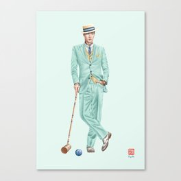 Croquet and Ink Twelve Canvas Print