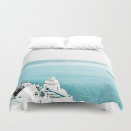 Greece Thera View Duvet Cover