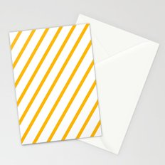 Yellow summer stripes Stationery Cards