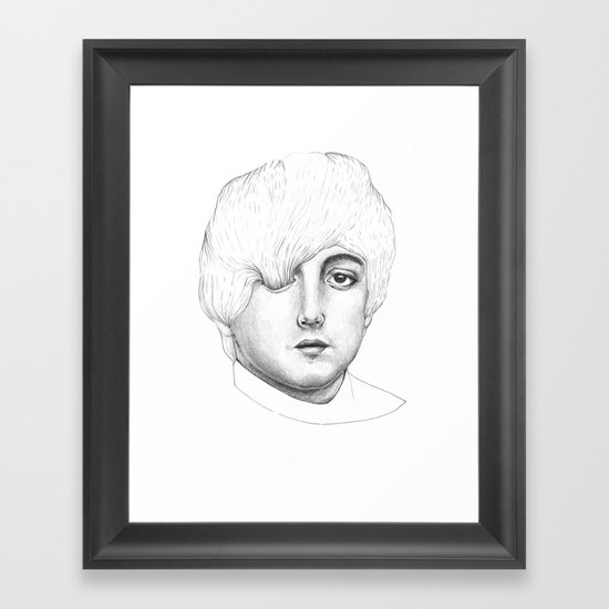 Paul, Your hair is long but not long enough like your eyelashes Framed Art Print