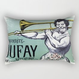 Marguerite Dufay playing the trombone Rectangular Pillow