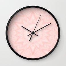 Pink starburst Wall Clock