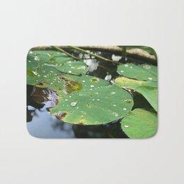 Water Lilies on a Pond Bath Mat