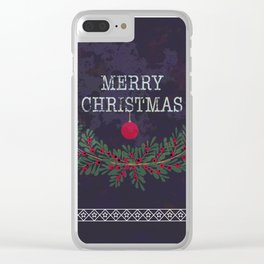 Merry Christmas and Happy New Year Clear iPhone Case
