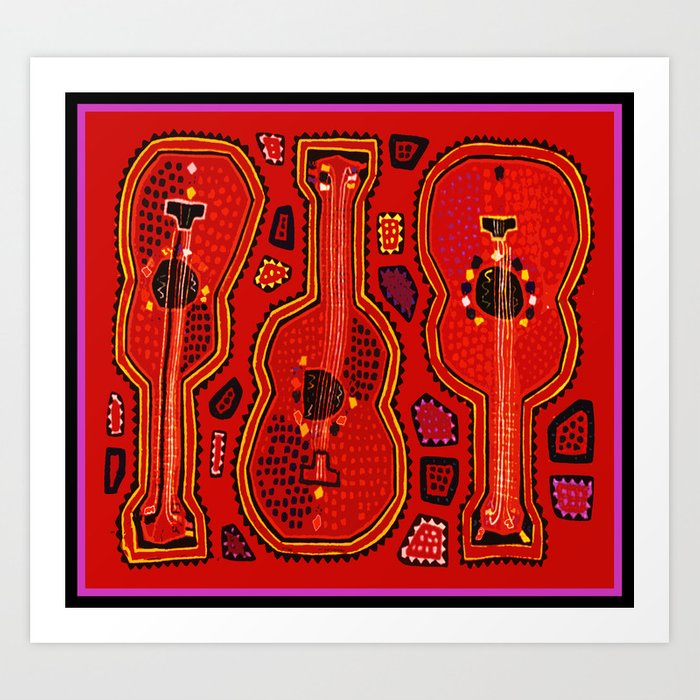 Flamenco Guitars Kunstdrucke