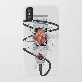 Heart of a Barber iPhone Case