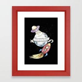 Moon Love Children's Room Poster Framed Art Print