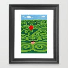 The Maze Framed Art Print