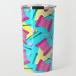 Memphis Sewing - Brights Travel Mug