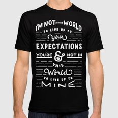 Bruce Says: Expectations Black MEDIUM Mens Fitted Tee