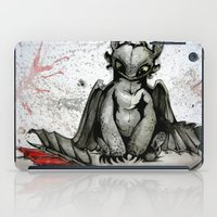 toothless iPad Cases featuring Toothless by artbyteesa