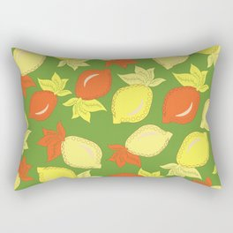 Tumbled Lemons Pattern Rectangular Pillow