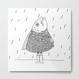 raincoat Metal Print