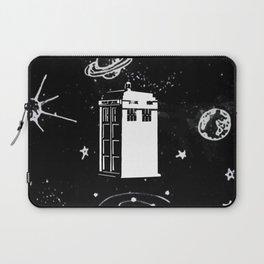 tardis black and white universe Laptop Sleeve