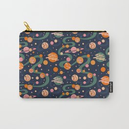 Cosmos Pattern, Blue, Orange, Green, Cosmic, Space Carry-All Pouch