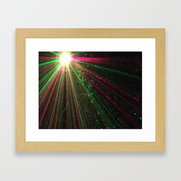 Holiday laser burst Framed Art Print